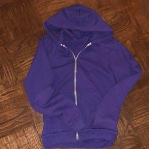 American Apparel zip up hoodie sweatshirt