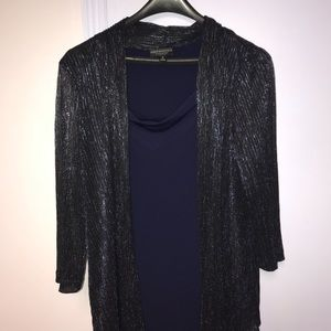 ♥️connected sheer jacket dress metallic