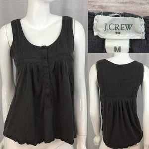 🌳Sz Medium J. Crew Gray Loose Fit Button Tank Top