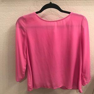 Francesca's Bright Pink Blouse