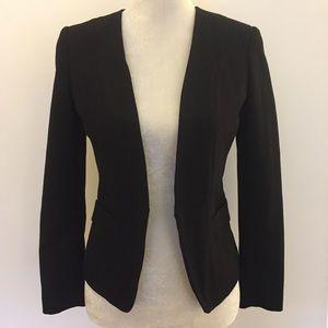 H&M black hook eye structured blazer jacket