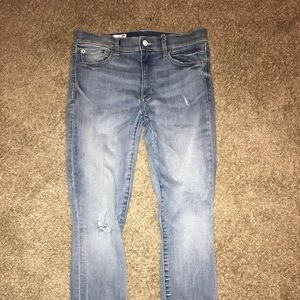 Gap light blue skinny jeans