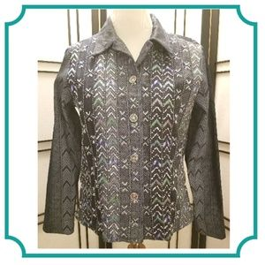 Coldwater Creek Stunning Beaded Jacket.