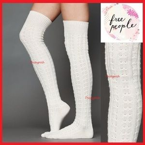 Free People Over The Knee Socks Thigh High Crochet