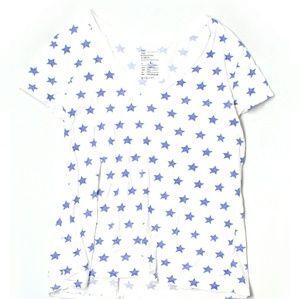 Gap Causal Tee Shirt: Navy and White  ⭐⭐⭐⭐