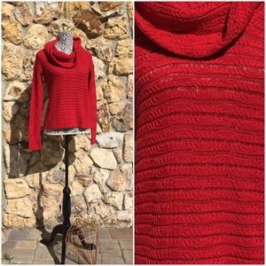 Calvin Klein Jeans Cowl Neck Red Sweater