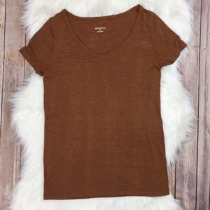 Merona   Autumn Short Sleeve V-Neck Top Stretch XS