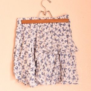 Zara ruffle mini skirt