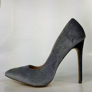 Liliana Velvet Stiletto Pumps Spike Heels