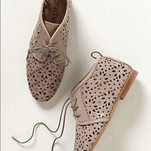 {Anthro} By 67 Collection Flore Lasercut booties