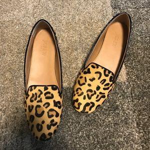 JCREW Leopard Loafers