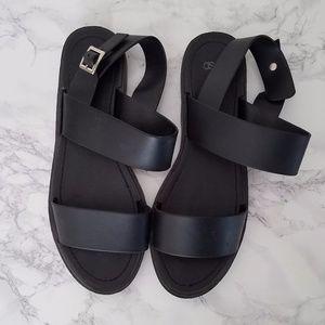ASOS Basic Black Strap Sandals
