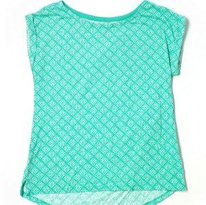 Gap Outlet Sea Foam Green-Blue Tee Shirt (Pattern)