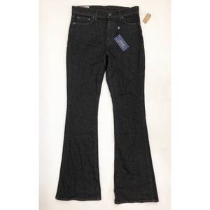 Polo Ralph Lauren Jeans 30 Black Denim Flare Leg
