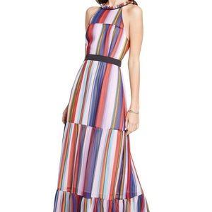 BCBG rainbow striped maxi dress