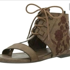 Sugar womens watercress sandals lace up