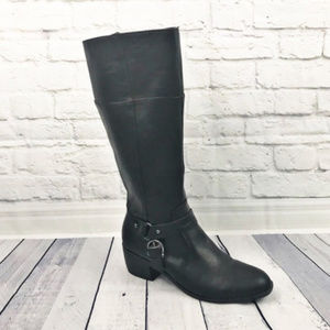 Life Stride Black Knee High Riding Boots size 11