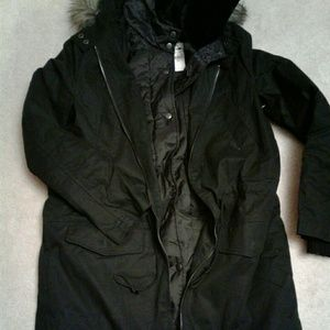 New Express Pea Coat 2 layers Women Small