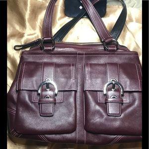 Classy Maroon COACH bag
