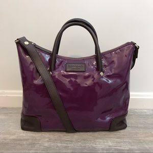 Kate Spade Purple Patent w Brown Leather Bag