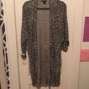 H&M leopard duster cardigan