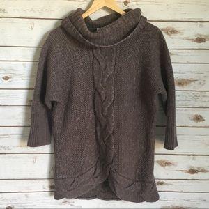 Loft Cowl Neck Alpaca Wool Blend Sweater