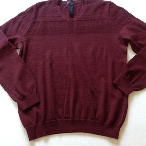 Banana Republic Merino Wool Red Holiday Sweater