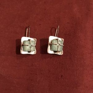 Sterling Silver earrings with beach glass