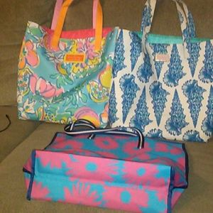 2 Lilly Pulitzer and 1 Estee Lauder Totes