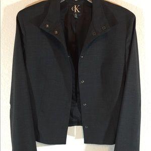 CK Calvin Klein Charcoal Gray/Black Jacket
