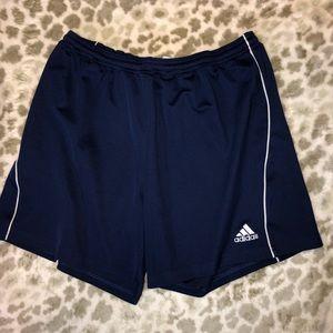 Medium navy Adidas shorts