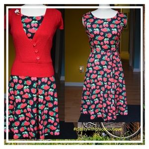 Strawberry and Raspberry Dress
