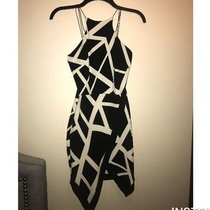Black and white cocktail dress!