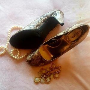 Merona Faux Snake Skin Heels
