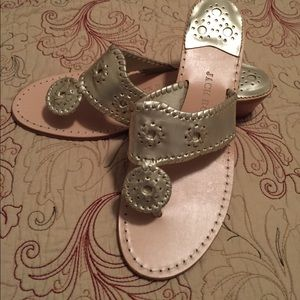 Jack Rogers sandal with heel gold size 10