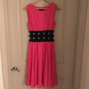 Pleated pink peekaboo dress