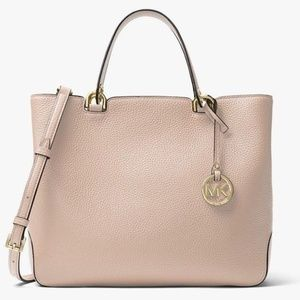 Michael Kors Anabelle Soft Pink Large Leather Tote