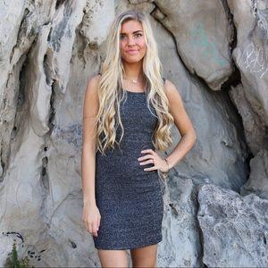 charcoal mini dress