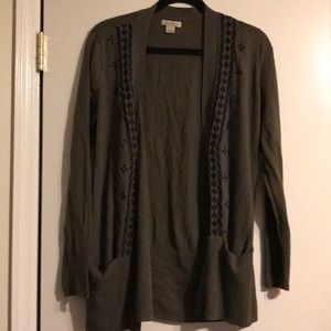 NWOT 🍀LUCKY BRAND Long military green cardigan