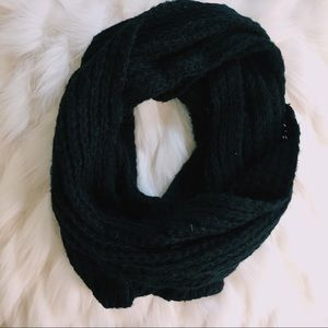 Black knit infinity scarf knitted winter scarves