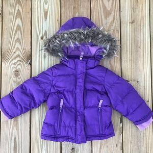 Cherokee Girls Jacket Kids Purple Puffer Jacket