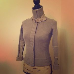 A/X Armani Exchange Suede detail cardigan XS taupe