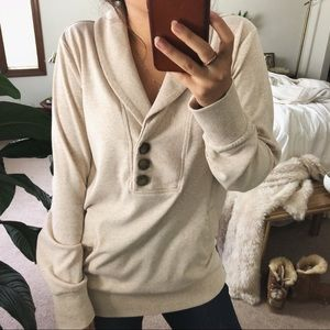 BANANA REPUBLIC/ button shawl collar sweater