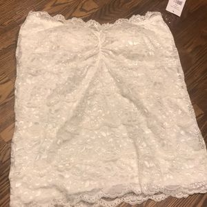 Tops - Cream lace tube top size large