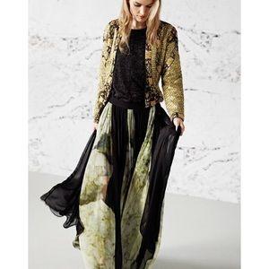 Reiss Aurelia Panel Maxi Skirt