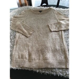 Talbots Gold Sparkle Sweater Size Large