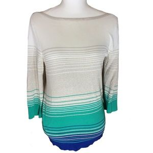White House Black Market Striped Sweater