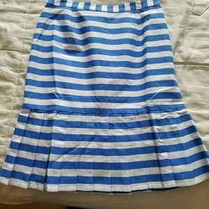 Modcloth blue and white pencil skirt with peplum