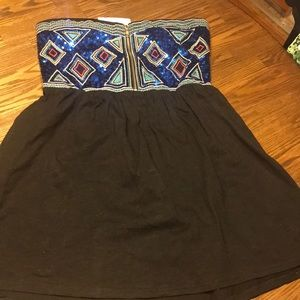 Tops - Sequins strapless tunic size xl