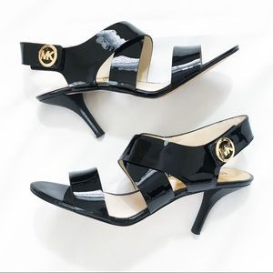 Michael Kors Joselle Patent Leather Strappy Heels